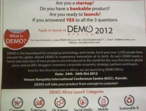 DEMO Africa Innovation Tour Poster Kenya