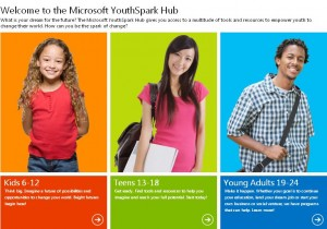 Microsoft YouthSpark for 300 Million Youth by 2016
