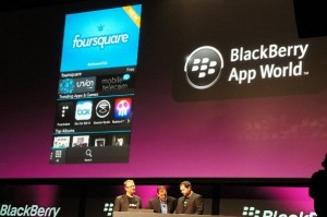 RIM Blackberry 10 Appworld User Interface