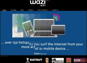 Wazi Wifi EatOut Partnership
