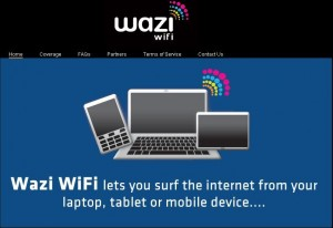 Wazi WiFi Website