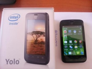 Intel Safaricom YOLO smartphone with box
