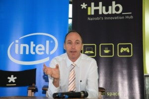 Danie Steyn general manager Intel East Africa at the Ihub Intel partnership announcement march 2013