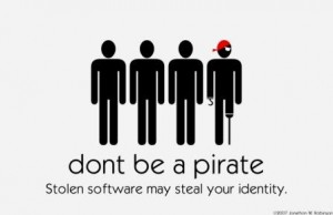 Microsoft Anti Piracy dont use counterfeit software juuchini Pirate Poster
